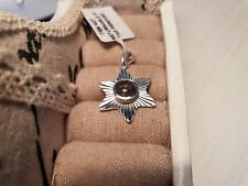 Artisan crafted black rutile quartz star pendant in Sterling Silver