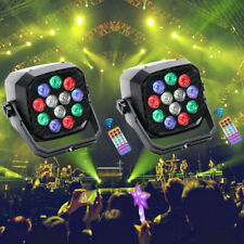 2Pcs U`King 12 Led Rgbw Par Can Stage Lighting Dmx Show Disco Party Dj Uplight