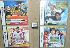 JOB LOT 5 x NINTENDO DS DSI GAMES Kung Zhu Star Wars Clone Wars Lost Magic HSM 2