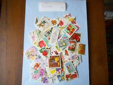 100 used postage stamps FLOWERS of the WORLD pk1 no doubles