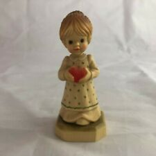 "Vintage Anri Club Figurine ""Gift of Love"" Sarah Kay Italy Wood Carved *New*"
