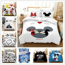 3D Mickey Minnie Mouse Bedding Set Duvet Cover Comforter Cover Pillow Case Kids