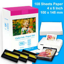 """Canon KP-108IN Ink Cartridge 4""""x6"""" Photo Paper Pack for Selphy CP-910 CP1300 Lot"""