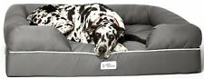 Pet Lounge Bed Couch Xxl Jumbo Dog Solid Memory Foam Base Gray Comfort Health