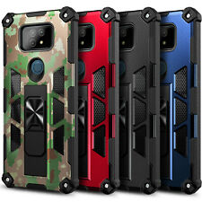 Case For Cricket Ovation 2 Full Body Built-in Kickstand with Tempered Glass