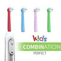 4 Brossettes De Rechange pour Oral-B Brosse à Dents Electrique Kids Enfant