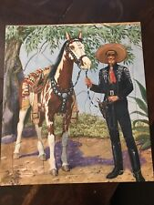 Vintage 1950 Cisco Kid Doubleday & Co. Saalfield Inlaid Tray Puzzle