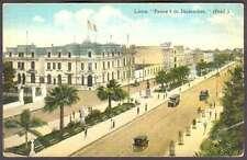 Peru Postcard Lima Paseo 9 De Diciembre & Automobiles
