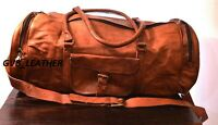 Men's Export Quality Leather Travel Duffel Weekender Carry Vintage Luggage Bag