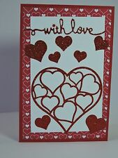 Craft Metal Die compatible with both Cuttlebug or Sizzix - Hearts