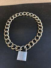 Halskette Kette LEICHT +Schloss Halsband Slave Bondage PARUS leather gay Muscle