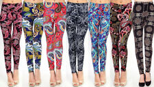 New Women's Paisley and Tribal Print Leggings Workout Pants O/S S-L L07