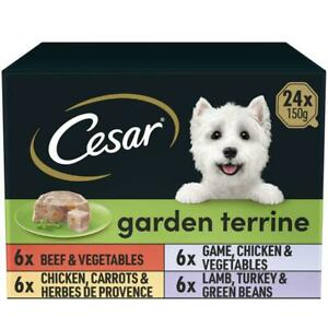 24 x 150g Cesar Classics Dog Food Trays Mixed Selection in Loaf