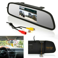 """4.3"""" SUV Car TFT LCD Monitor Parking Reverse Mirror with Power Cable PAL / NTSC"""