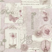 VIP By Arthouse Felicity Soft Pink Paris Eiffel Tower Wallpaper (665403)
