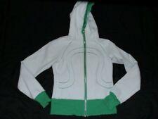 Lululemon Hoodie Women Sz 4 Scuba Raw Edge Fresh Teal Very Green Sweatshirt HTF
