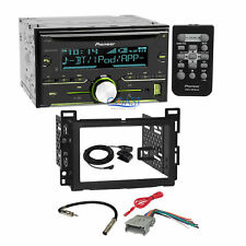 Pioneer CD USB Bluetooth Stereo 2Din Dash Kit Harness for 04+ Chevrolet Pontiac