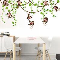 Cartoon Tree Cute Monkey Art Baby Bedroom Decor Gift Wall Sticker Wall Decals