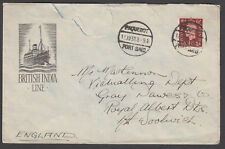 Great Britain - 1938 cover to England, cancelled Paquebot/Port Said