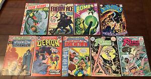 9 DC MIXED BRONZE AGE COMICS