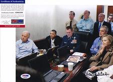 Hillary Clinton Signed Autograph Bin Laden War Situation Room Photo PSA/DNA COA