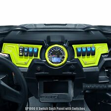 RZR XP1000 2 Piece Dash Panel Includes (6) Switches Lime Squeeze Powdercoated