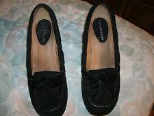 apostrophe ladies black suede heels size 7 med