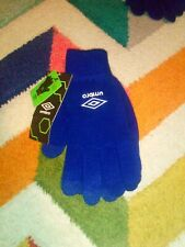 New listing Umbro Gloves Conductive Touch Screen Mobile iPhone One Size Warm Winter Blue New
