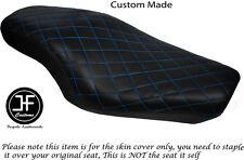 Diamond Luz Azul St Custom Para Harley Sportster 883 1200 Vinilo Doble Cubierta de asiento