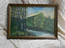 SET OF 2 ORIGINAL OIL ON CANVAS LANDSCAPES UNSIGNED FRAMED # 5561 # 370 A & B