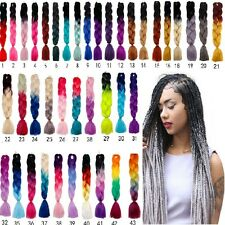 Ombre Kanekalon Jumbo Braiding Synthetic Hair Extensions African Twist Br Gift