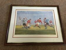 """"""" Giggs On the Attack """" by C Campbell  Manchester United 22/500 signed print"""