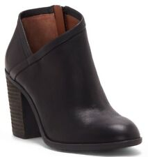 Lucky Brand Salza Leather Pump BOOTIES BROWN Boots  11 M -NEW-