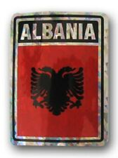 Wholesale Lot 6 Albania Country Flag Reflective Decal Bumper Sticker