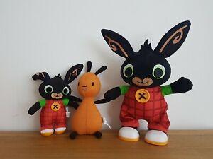 Talking Bing Soft Toy & Talking Flop Plush Bundle Soft Toys Cbeebies