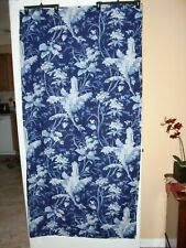"""ISRAEL~POTTERY BARN B+B~BLUE&WHITE FLORAL~100%COTTON~SHOWER CURTAIN~68""""W X 70""""L"""