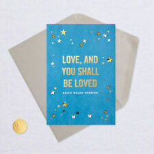 Hallmark Signature Love, Birthday, Anniversary Card/Envelope ~ 3d Foil Stars