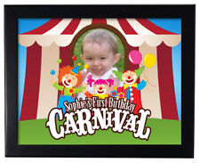 1 Carnival Circus Clown Birthday Party Favors Personalized 8x11 inch Wall print