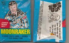1979 TOPPS MOONRAKER UNOPENED PACK JAMES BOND FROM BOX ROGER MOORE
