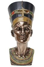 Veronese Bronze Figurine Egyptian Bust Queen Nefertiti Home Decor Statue LARGE