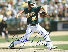 **GFA Oakland Athletics *RYAN COOK* Signed 8x10 Photo R2 COA**