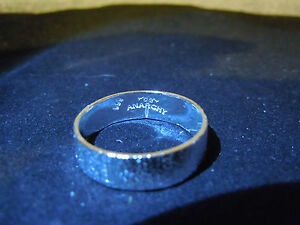 NEW PURE SILVER .999 BULLION SZ6 WOMENS RING MADE BY ANARCHY PM JEWELRY #C249