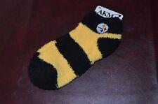 NWT Pittsburgh Steelers Ladies Soft Socks Medium Size 6-11 Fuzzy & Warm