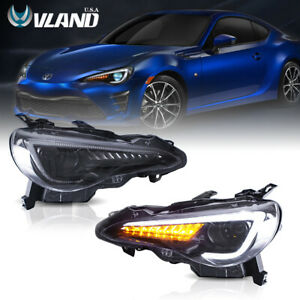 VLAND LED Headlights For 2012-2019 Toyota 86 GT/SUBARU BRZ Sequential Indicator