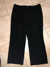 WOMENS SIZE 16 BLACK ANKLE LENGTH CROPPED PANTS BY SANDRA KING POLYESTER RAYON !