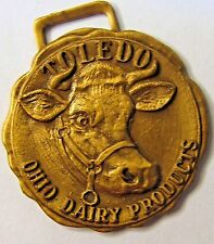 early vintage Toledo Ohio Dairy Products original watch fob *