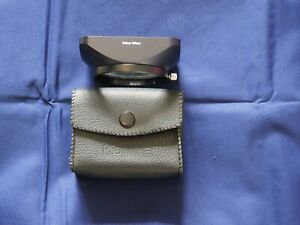 Konica 24mm / 28mm lens square hood in excellent condition with soft carry case