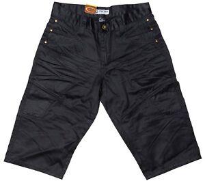 Big Mens Chisel Jeans Black denim Straight Leg 3/4 pants- CJ-2499 3Q Sale