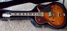 Aria Pro II FA70 Jazz Guitar - Sunburst Finish with Hardshell Case