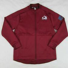 Adidas Colorado Avalanche Zip up Hockey Bomber Jacket Maroon Eb6793 Men's Large